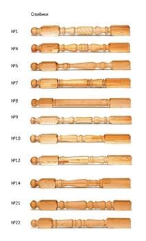 Столб начальный из сосны 80х80х1200 мм ( шт.) - фото 4482