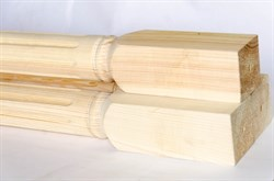 Столб-колонна 100х100х2500 мм, сосна шт. - фото 4486