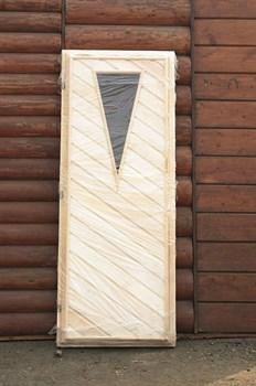 Дверное полотно со стеклом 700х1700 мм, липа - фото 4741