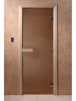 Дверное полотно (матовое стекло) 700х1900 мм, липа - фото 4754