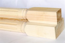 Столб-колонна 100х100х3000 мм, сосна шт.