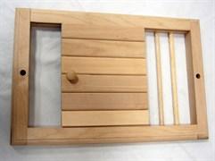 Вентиляционная решетка для бани с задвижкой большая (липа)