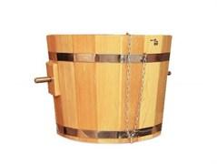 Обливное ведро 20 литров с переливом (дуб)