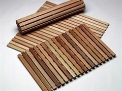 Коврик-лежак для бани из липы, 45х100 см