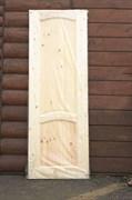 Дверное полотно с коробкой 600х2000 мм, сосна с сучками