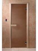 Дверное полотно (матовое стекло) 800х2000 мм, липа
