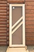Дверное полотно Сауна Данн 700х1900 мм, липа
